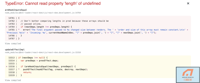 Cannot read property length of undefined